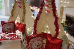 Christmas Candy Cane Sleepover